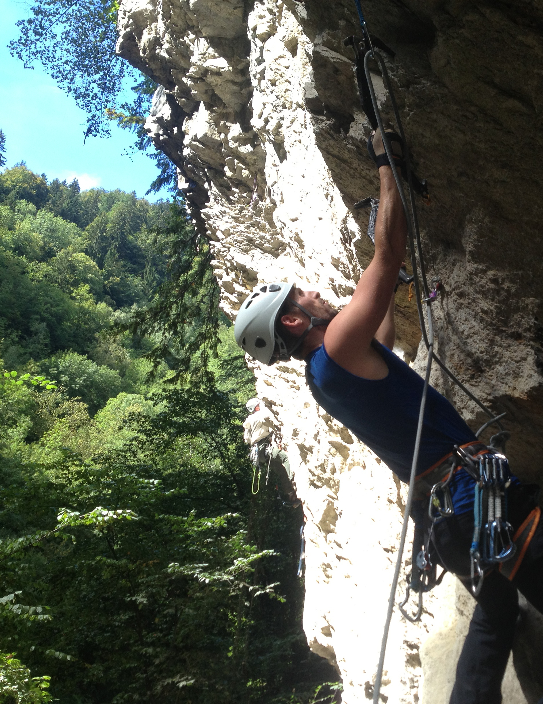 james is climbing in Chamonix